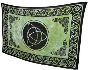"""Triquetra Tapestry Irish Knot Bedspread Blanket 72"""" x 108"""" Bedspread Wall hanging"""