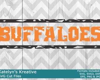 Buffaloes Distressed SVG Files