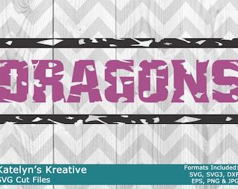 Dragons Distressed SVG Files