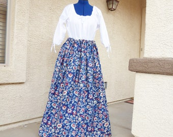 Drawstring Skirt or Petticoat. Pioneer, Civil war, Colonial.