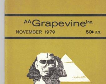 AA Grapevine, November, 1979, Magazine of Alcoholics Anonymous, Recovery, encouragement, addiction Hope.