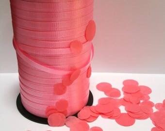 CORAL CURLING RIBBON gift bag ribbon confetti balloon ribbon 10 yards yds gift wrap gift tag birthday party wedding balloons