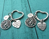 best friend gift, best friend keychain set of 2, birthday gift under 40, bff friendship gift, family tree, friends are family we choose