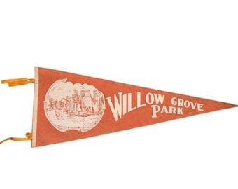 Willow Grove Park Pennsylvania Northeast High School Philadelphia PA Felt Flag