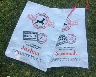 Personalized, Christmas Gift Sack