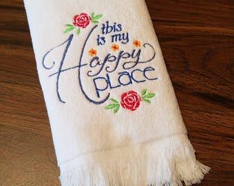 Happy Place Fingertip Towel
