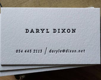 The Informant – Custom Letterpress Printed Calling Cards 100ct