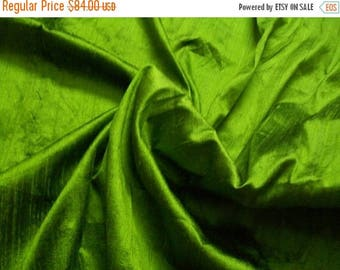 15% off on Wholesale fabric 6 yards of 100 Percent pure dupioni silk in Lush green