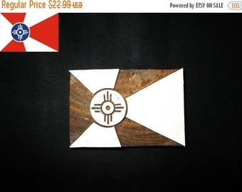 15% OFF ON Custom Design/ Wichita Flag block printing stamps/wooden block for printing/ paper and fabric printing stamp