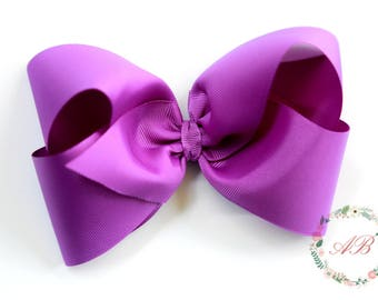 Purple Boutique Hair Bow - Extra Large Purple Hair Bow - Extra Large Purple Boutique Bow - Purple Boutique Hair Bow