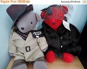 30% OFF SALE Vtg North American Teddy Bears Lauren Bearcall Humphrey Beargart Set 1983 VIB Stuffed Toys