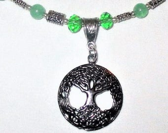 Aventurine Celtic Tree of Life Necklace