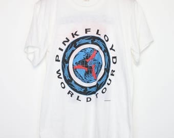 Pink Floyd Shirt Vintage tshirt 1987 A Momentary Lapse Of Reason Tour Concert Tee 1980s David Gilmour Roger Waters Nick Mason Art Rock