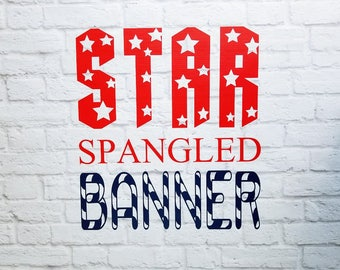 Patriotic Vinyl Decal Star Spangled Banner