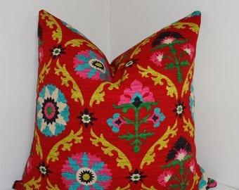 SPRING FORWARD SALE Waverly Mayan Medallion Desert Flower Pillow Cover Decorative Pillow Throw Pillow 18x18