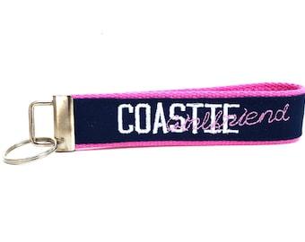Coast Guard Girlfriend Nametape Key Chain