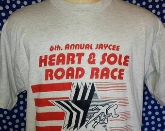 1992 Heart & Sole Road Race t-shirt, fits like a large