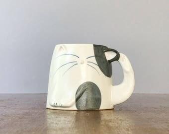 Vintage Takahashi Crazy Cat Lady Mug / Cup San Francisco Japan