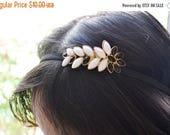 SUMMER SALE Black and White Jewel Headband