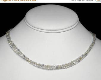 """South Sea Seed Pearl Necklace or Bracelet in Silver, 17"""""""