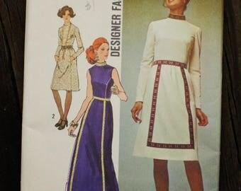 25%off Sizzlin Summer Sal Simplicity 9606 1970s 70s Boho Hippie Bohemian Dress Vintage Sewing Pattern Size 8 Bust 31.5