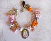 Alice in Wonderland Bracelet-Tea Party Bracelet-Kawaii Eat Me Drink Me Bracelet-Spell Book Jewelry-Fairy Tale Jewelry-Sweet Lolita Bracelet