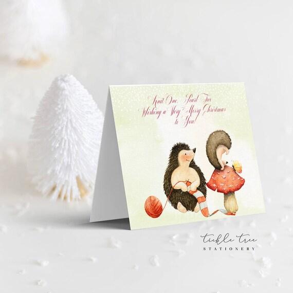 Christmas Greeting Cards - It's a Hedgehog Xmas