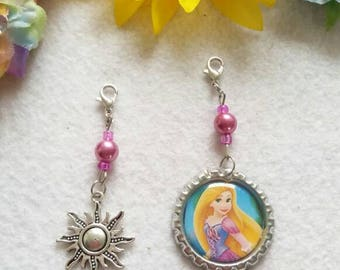 10 Rapunzel Zipper Pulls Party Favors