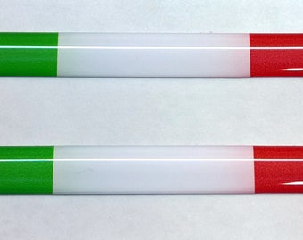 Italy Domed Gel Stickers (2x) for Laptop Tablet Book Fridge Guitar Motorcycle Helmet ToolBox Door PC Smartphone