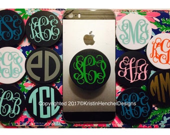 Monogrammmed Personalized Phone Stand Pop Holder Expanding Socket