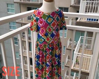 70% Off Bright Tribal Knit Dress Size 6