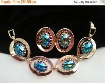 On Sale Bracelet Earring Set * Vintage Demi Parure * 1950's 1960's Retro Collectible Jewelry * Mad Men Mod *