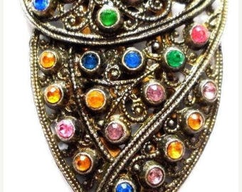 On Sale Vintage 1930's Dress Clip Art Deco Rhinestone Collectible Antique Jewelry