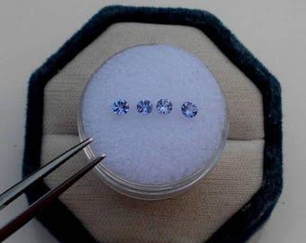 ON SALE 4 Tanzanite Round Loose  Gems 3mm each