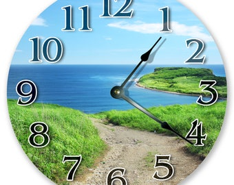 "10.5"" Path to Beach - Large 10.5"" Wall Clock - Home Décor Clock - 3227"