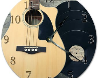Guitar clock Etsy