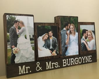 Unique wedding gift for couple, bridal shower gift, groom to bride gift, bride to groom gift, wedding sign, Mr and Mrs sign anniversary gift