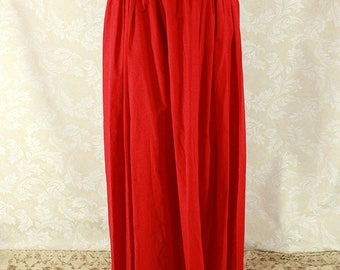 "HALF OFF Renaissance Wench Basic Skirt -- Bright Red Cotton -- Fits up to 40"" Waist, 39"" Length -- Ready to Ship"