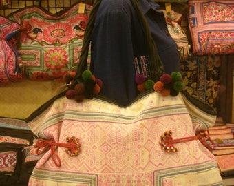 Tote/vintage -Tribal-Handmade Ethnic Hmong Bag 018