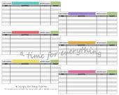 Envelope system blank cash spending logs budgeting inserts | printable instant download | Simple Brights