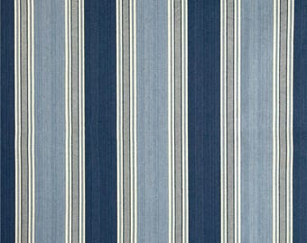 Two 26 x 26 Designer Decorative Pillow Covers - Waverly Stripe - Navy Blue