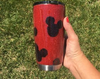 Mickey Mouse 20oz Tumbler stainless steel tumbler glitter tumbler disney tumbler  Ready to ship