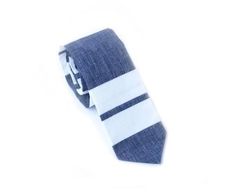 Navy Block Neck Tie