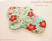 100% Cotton Flannel Prints Cloth Pad  For Heavy Flow  -Vintage Modern-
