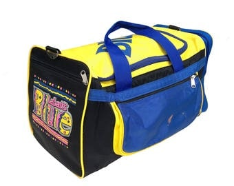 Wild 80s Neon Labatt Blue Beer Surf Graffiti Duffle Bag