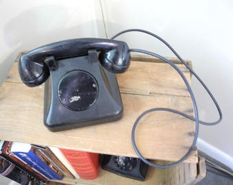 Vintage Black Extension Intercom Telephone. Office / Hotel / Telephone. Vintage S H Couch Co Telephone