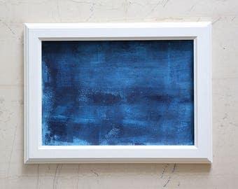 Seascape - Original Abstract Painting - Deep Blue Sea  - Ocean - Dark Waters - Dark Aegean Sea - Greek Sea
