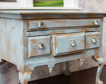 Dollhouse Furniture - Hand Painted Shabby Buffet 1:12 Scale