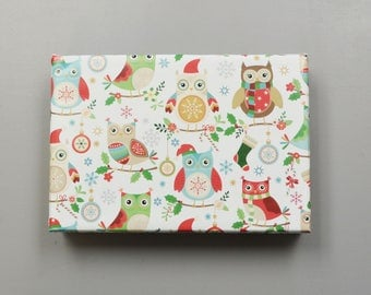 Christmas Owls Wrapping Paper, 2 Feet x 10 Feet - New for 2017