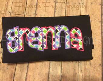 Grandmother Brag applique shirt for GRANNA Customized and Personalized
